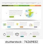 web design website template... | Shutterstock .eps vector #76269832