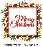 merry christmas card template... | Shutterstock .eps vector #762705175