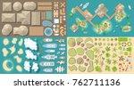 vector set. summer vacation.... | Shutterstock .eps vector #762711136
