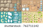vector set. summer vacation.... | Shutterstock .eps vector #762711142