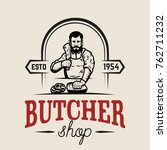 Butchery. Butcher Illustration...