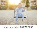happy child boy toddler smiling ... | Shutterstock . vector #762712255