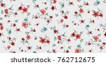 seamless floral pattern in... | Shutterstock .eps vector #762712675