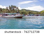 traditional boats on gili meno... | Shutterstock . vector #762712738