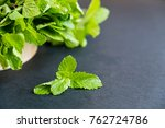 mint leaf. green fresh mint ... | Shutterstock . vector #762724786