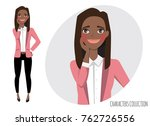 vector illustration of a cute... | Shutterstock .eps vector #762726556
