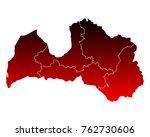 map of latvia | Shutterstock .eps vector #762730606