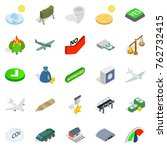 army icons set. isometric set... | Shutterstock .eps vector #762732415