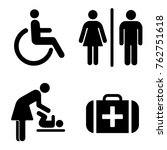 set of icons for wc the... | Shutterstock .eps vector #762751618