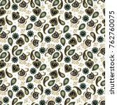 seamless  paisley pattern.... | Shutterstock .eps vector #762760075