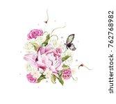 watercolor  wedding bouquet... | Shutterstock . vector #762768982
