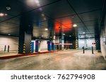 entry into underground garage... | Shutterstock . vector #762794908