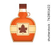 tasty maple syrup on white... | Shutterstock .eps vector #762801622