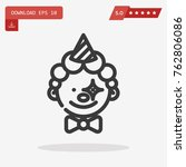 clown vector icon  emblem... | Shutterstock .eps vector #762806086
