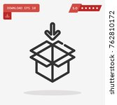 package vector icon. emblem... | Shutterstock .eps vector #762810172