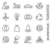 ecology icons set.... | Shutterstock .eps vector #762810532