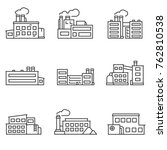 factory icons set thin line...   Shutterstock .eps vector #762810538