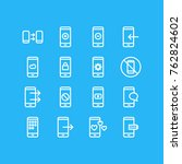vector illustration of 16 phone ... | Shutterstock .eps vector #762824602