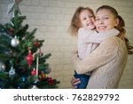 mother and daughter celebrate... | Shutterstock . vector #762829792