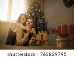 mother and daughter celebrate...   Shutterstock . vector #762829795
