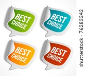 vector sale stickers set with... | Shutterstock .eps vector #76283242