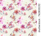 Pattern With Magnolia And...