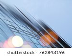 abstract business modern city... | Shutterstock . vector #762843196