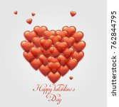 happy valentine's day card with ...   Shutterstock . vector #762844795