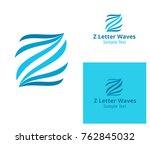 z letter logo waves lines   Shutterstock .eps vector #762845032