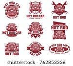 template of hot rod car logo ... | Shutterstock .eps vector #762853336