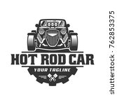 template of hot rod car logo ...   Shutterstock .eps vector #762853375