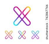 abstract letter x line monogram ... | Shutterstock .eps vector #762867766