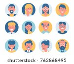 various vector round abstract... | Shutterstock .eps vector #762868495