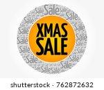 xmas sale words cloud  business ... | Shutterstock .eps vector #762872632