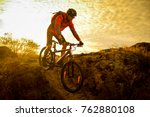 cyclist in red riding the bike... | Shutterstock . vector #762880108
