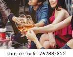 social party concept  ... | Shutterstock . vector #762882352