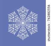 snowflake six pointed with... | Shutterstock .eps vector #762882556