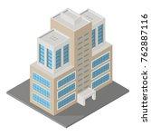 modern isometric building  3d... | Shutterstock . vector #762887116