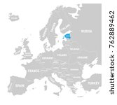 estonia marked by blue in grey... | Shutterstock .eps vector #762889462