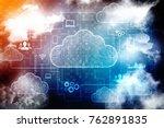 2d rendering cloud computing ... | Shutterstock . vector #762891835