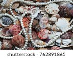 beautiful sea background with... | Shutterstock . vector #762891865