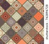 seamless ceramic tile with... | Shutterstock .eps vector #762896728