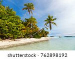 stunning tropical aitutaki one... | Shutterstock . vector #762898192