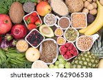 food rich in fiber | Shutterstock . vector #762906538