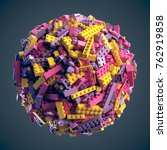 sphere made of random colored... | Shutterstock . vector #762919858