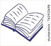 doodle book. vector. | Shutterstock .eps vector #762923698