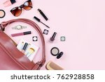 woman beauty accessories and... | Shutterstock . vector #762928858