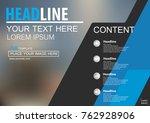 abstract vector modern brochure ...   Shutterstock .eps vector #762928906