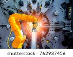 industrial machine and factory... | Shutterstock . vector #762937456