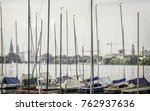 Yacht Boats Moored On Alster...